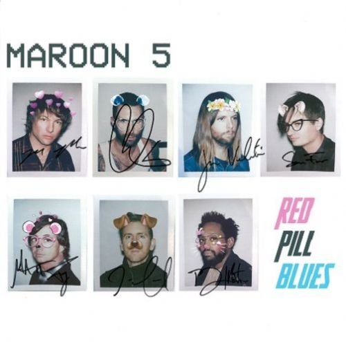 MAROON 5 Red Pill Blues Signed Lithograph